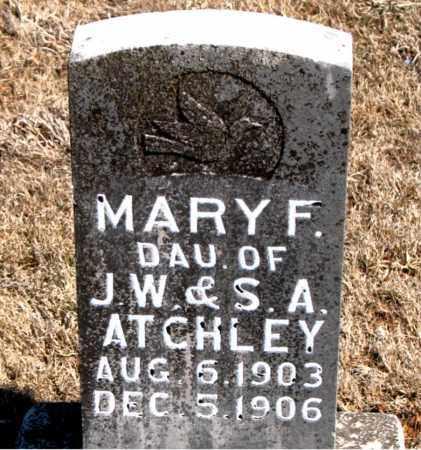 ATCHLEY, MARY F. - Carroll County, Arkansas | MARY F. ATCHLEY - Arkansas Gravestone Photos