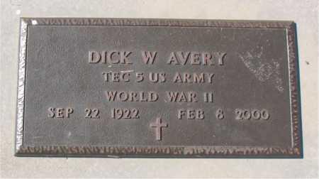 AVERY (VETERAN WWII), DICK W - Carroll County, Arkansas | DICK W AVERY (VETERAN WWII) - Arkansas Gravestone Photos