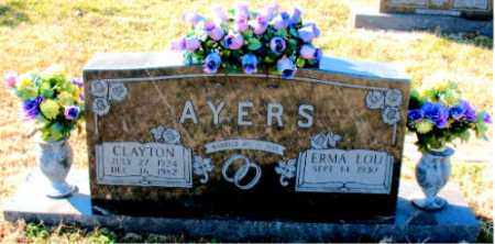 AYERS, CLAYTON - Carroll County, Arkansas | CLAYTON AYERS - Arkansas Gravestone Photos