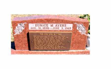 AYERS, EUNICE M - Carroll County, Arkansas | EUNICE M AYERS - Arkansas Gravestone Photos