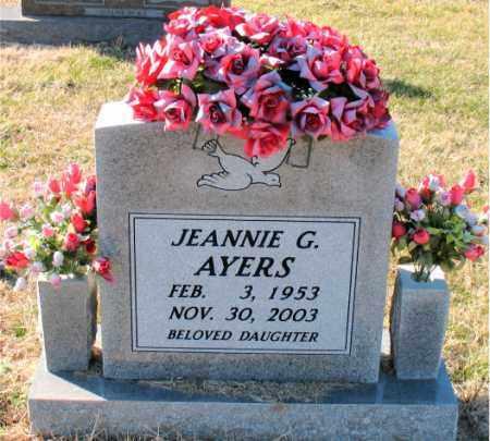 AYERS, JEANNIE G. - Carroll County, Arkansas   JEANNIE G. AYERS - Arkansas Gravestone Photos