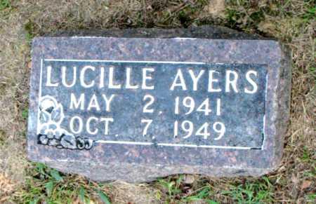 AYERS, LUCILLE - Carroll County, Arkansas | LUCILLE AYERS - Arkansas Gravestone Photos