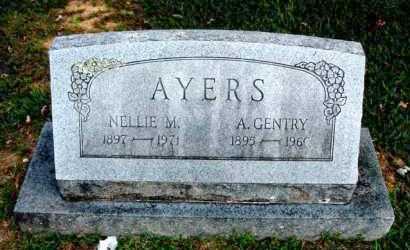 AYERS, A GENTRY - Carroll County, Arkansas | A GENTRY AYERS - Arkansas Gravestone Photos