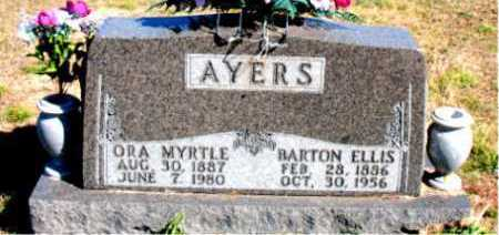 AYERS, BARTON ELLIS - Carroll County, Arkansas | BARTON ELLIS AYERS - Arkansas Gravestone Photos