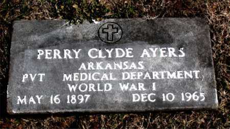 AYERS (VETERAN WWI), PERRY CLYDE - Carroll County, Arkansas   PERRY CLYDE AYERS (VETERAN WWI) - Arkansas Gravestone Photos