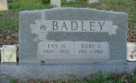 BADLEY, FAY H. - Carroll County, Arkansas   FAY H. BADLEY - Arkansas Gravestone Photos