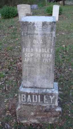 BADLEY, OLA - Carroll County, Arkansas   OLA BADLEY - Arkansas Gravestone Photos