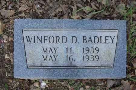 BADLEY, WINFORD D. - Carroll County, Arkansas | WINFORD D. BADLEY - Arkansas Gravestone Photos