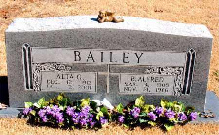 BAILEY, B. ALFRED - Carroll County, Arkansas   B. ALFRED BAILEY - Arkansas Gravestone Photos