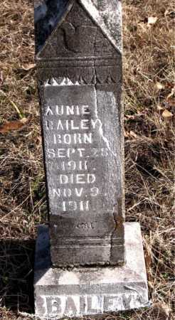BAILEY, AUNIE - Carroll County, Arkansas | AUNIE BAILEY - Arkansas Gravestone Photos