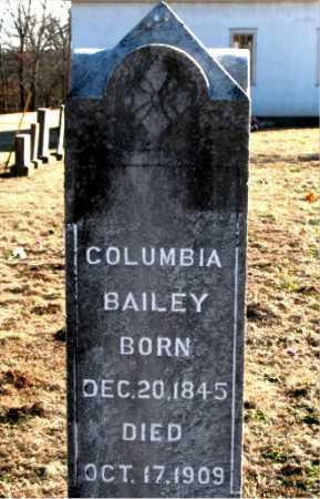 BAILEY, COLUMBIA - Carroll County, Arkansas | COLUMBIA BAILEY - Arkansas Gravestone Photos