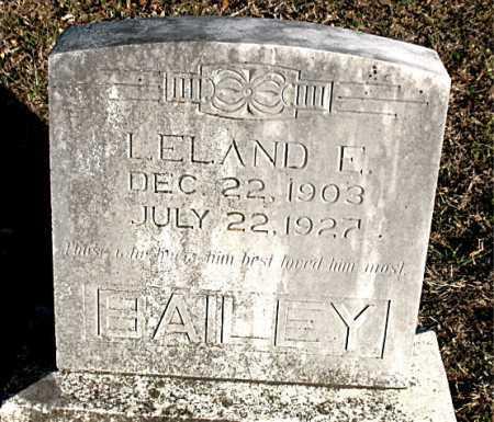 BAILEY, LELAND E. - Carroll County, Arkansas | LELAND E. BAILEY - Arkansas Gravestone Photos