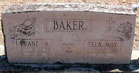 BAKER, FRANZ A. - Carroll County, Arkansas | FRANZ A. BAKER - Arkansas Gravestone Photos