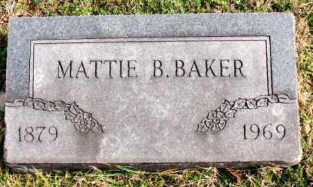 BAKER, MATTIE B. - Carroll County, Arkansas   MATTIE B. BAKER - Arkansas Gravestone Photos