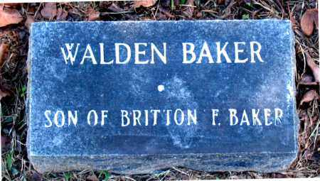 BAKER, WALDEN - Carroll County, Arkansas | WALDEN BAKER - Arkansas Gravestone Photos