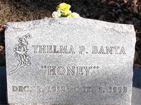 BANTA, THELMA P.  (HONEY) - Carroll County, Arkansas | THELMA P.  (HONEY) BANTA - Arkansas Gravestone Photos