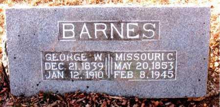 BARNES, GEORGE W. - Carroll County, Arkansas | GEORGE W. BARNES - Arkansas Gravestone Photos