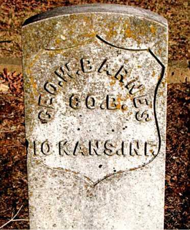 BARNES  (VETERAN UNION), GEORGE W - Carroll County, Arkansas | GEORGE W BARNES  (VETERAN UNION) - Arkansas Gravestone Photos