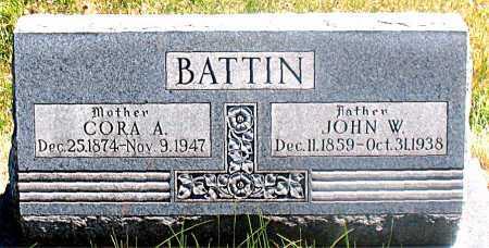 BATTIN, CORA A - Carroll County, Arkansas | CORA A BATTIN - Arkansas Gravestone Photos