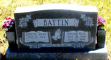 BATTIN, DONALD GLEN - Carroll County, Arkansas   DONALD GLEN BATTIN - Arkansas Gravestone Photos