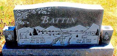 BATTIN, GERTRUDE - Carroll County, Arkansas | GERTRUDE BATTIN - Arkansas Gravestone Photos