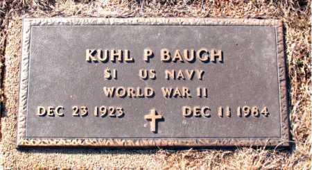 BAUGH  (VETERAN WWII), KUHL P. - Carroll County, Arkansas | KUHL P. BAUGH  (VETERAN WWII) - Arkansas Gravestone Photos