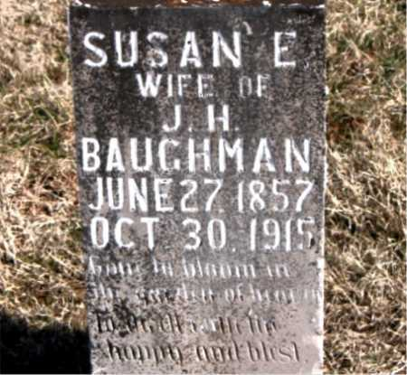 BAUGHMAN, SUSAN E - Carroll County, Arkansas | SUSAN E BAUGHMAN - Arkansas Gravestone Photos