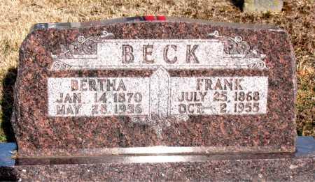 BECK, BERTHA - Carroll County, Arkansas | BERTHA BECK - Arkansas Gravestone Photos