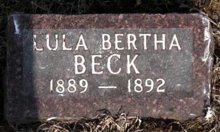 BECK, LULA BERTHA - Carroll County, Arkansas | LULA BERTHA BECK - Arkansas Gravestone Photos