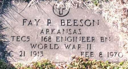 BEESON (VETERAN WWII), FAY P. - Carroll County, Arkansas | FAY P. BEESON (VETERAN WWII) - Arkansas Gravestone Photos