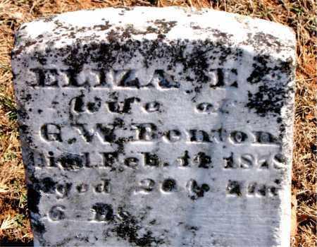 BENTON, ELIZA E. - Carroll County, Arkansas | ELIZA E. BENTON - Arkansas Gravestone Photos