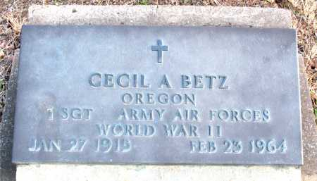 BETZ (VETERAN WWII), CECIL  A. - Carroll County, Arkansas | CECIL  A. BETZ (VETERAN WWII) - Arkansas Gravestone Photos