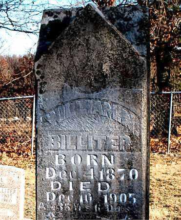 BILLITER, WILLIAM N. - Carroll County, Arkansas | WILLIAM N. BILLITER - Arkansas Gravestone Photos