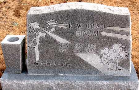 BINAM, D.  W.  (DESS) - Carroll County, Arkansas | D.  W.  (DESS) BINAM - Arkansas Gravestone Photos