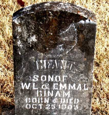 BINAM, INFANT SON - Carroll County, Arkansas | INFANT SON BINAM - Arkansas Gravestone Photos