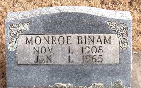 BINAM, MONROE - Carroll County, Arkansas | MONROE BINAM - Arkansas Gravestone Photos