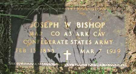 BISHOP  (VETERAN CSA), JOSEPH  W - Carroll County, Arkansas   JOSEPH  W BISHOP  (VETERAN CSA) - Arkansas Gravestone Photos