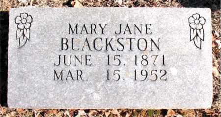BLACKSTON, MARY  JANE - Carroll County, Arkansas   MARY  JANE BLACKSTON - Arkansas Gravestone Photos