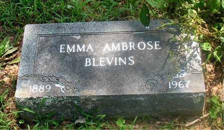 AMBROSE BLEVINS, EMMA - Carroll County, Arkansas | EMMA AMBROSE BLEVINS - Arkansas Gravestone Photos