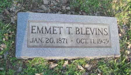 BLEVINS, EMMET T. - Carroll County, Arkansas | EMMET T. BLEVINS - Arkansas Gravestone Photos