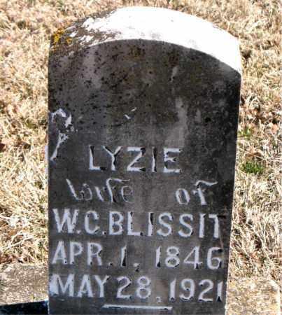 BLISSIT, LYZIE - Carroll County, Arkansas   LYZIE BLISSIT - Arkansas Gravestone Photos