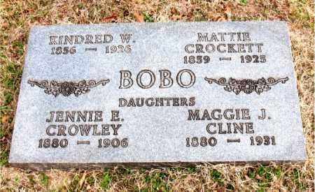 CROCKETT BOBO, MATTIE - Carroll County, Arkansas | MATTIE CROCKETT BOBO - Arkansas Gravestone Photos