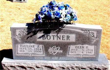 BOTNER, PAULINE  Z. - Carroll County, Arkansas   PAULINE  Z. BOTNER - Arkansas Gravestone Photos