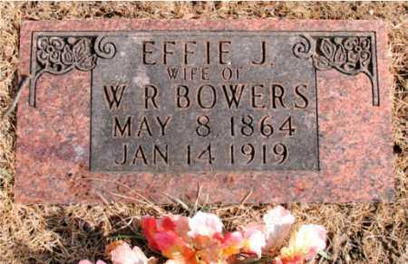 BOWERS, EFFIE J - Carroll County, Arkansas | EFFIE J BOWERS - Arkansas Gravestone Photos