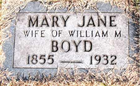 BOYD, MARY JANE - Carroll County, Arkansas | MARY JANE BOYD - Arkansas Gravestone Photos