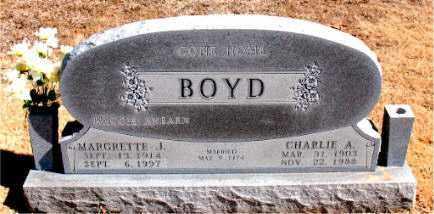 BOYD, MARGRETTE  J. - Carroll County, Arkansas   MARGRETTE  J. BOYD - Arkansas Gravestone Photos