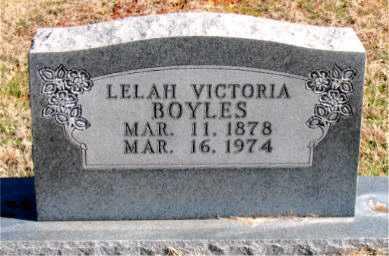 BOYLES, LELAH VICTORIA - Carroll County, Arkansas   LELAH VICTORIA BOYLES - Arkansas Gravestone Photos