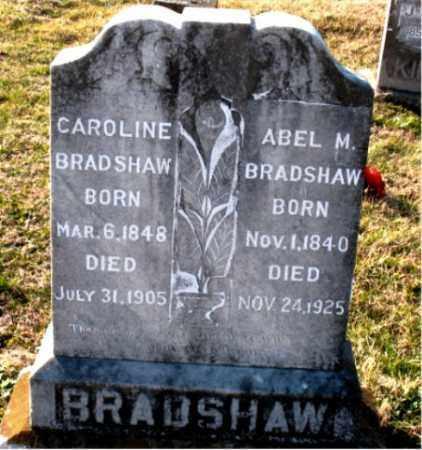 BRADSHAW, ABEL M. - Carroll County, Arkansas   ABEL M. BRADSHAW - Arkansas Gravestone Photos