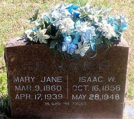 BRAMMER, ISAAC W. - Carroll County, Arkansas | ISAAC W. BRAMMER - Arkansas Gravestone Photos