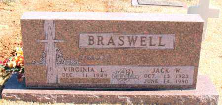 BRASWELL, JACK W. - Carroll County, Arkansas | JACK W. BRASWELL - Arkansas Gravestone Photos